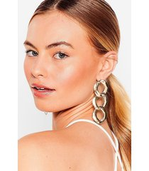 womens curb the attitude chain drop earrings - gold
