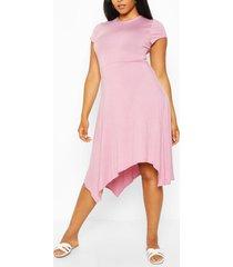 midi-jurk met korte mouwen en hanky zoom, lila