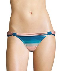 mani bia striped bikini bottom