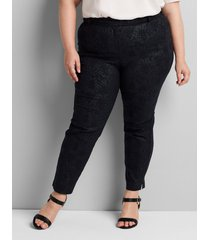 lane bryant women's signature fit ankle allie pant 26 coated snake print