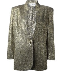 gianfranco ferré pre-owned jacquard jacket and skirt suit - metallic