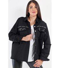 chaqueta denim erika negro night concept