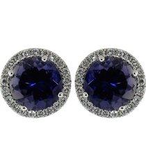 anna beth iolite stud earrings with diamond pave