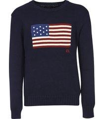 ralph lauren flag print sweater