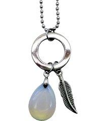 corrente tuliska pedra da lua e argola prata
