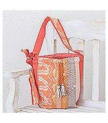 cotton bucket bag, 'suave beauty' (guatemala)