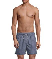 ted baker men's geo-print swim trunks - dark navy - size 6 (xxl)