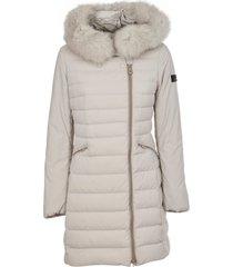 peuterey white long down jacket