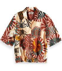 scotch & soda 161916 0217 hawaii shirt in printed viscose jacquard combo a