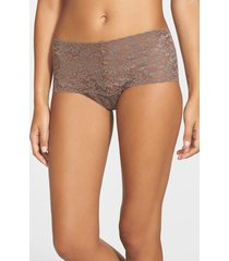 women's hanky panky 'retro' thong, size one size - brown