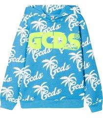 gcds mini light blue teen sweatshirt