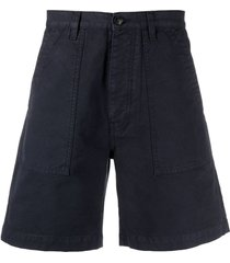 fortela rebelt cotton bermuda shorts - blue