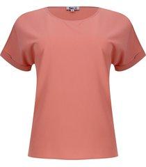 blusa con puño guarda polvo color naranja, talla 6