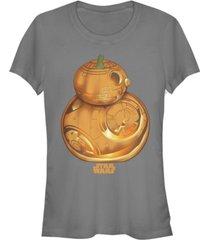 fifth sun star wars women's pumpkin carved bb-8 short sleeve tee shirt