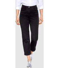 7/8-jeans dress in zwart