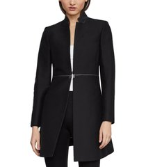 bcbgmaxazria zippered-waist kiss-front jacket