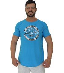 camiseta longline alto conceito classic home azul piscina - azul - masculino - algodã£o - dafiti