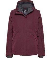 snow rebel jacket w outerwear sport jackets paars salomon