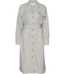elina jurk knielengte grijs fall winter spring summer