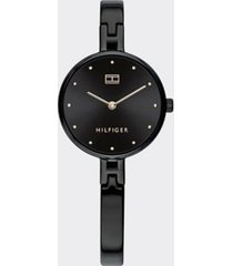 tommy hilfiger women's black bangle dress watch black -