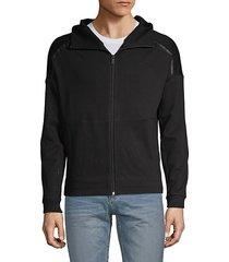 front-zip hoodie