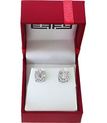 bouquet 0.93 tcw diamond and 14k white gold stud earrings