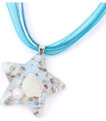 collana stella ciondolo carino clavicola shell creativo perla all'interno di donne collane gioielli da spiaggia estate