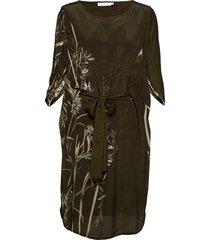 dress w. autumn fly print
