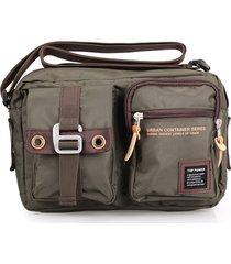 tracolla multifunzionale unisex in fibra di poliestere borsa tracolla orizzontale casual borsa per uomo