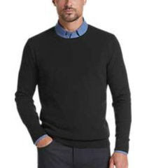 joe joseph abboud black slim fit crew neck sweater