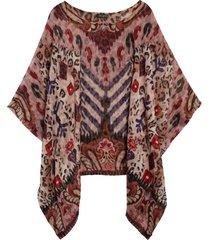 women's etro solisia silk poncho