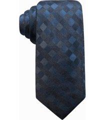 ryan seacrest distinction men's san leo gingham slim silk tie, created for macy's