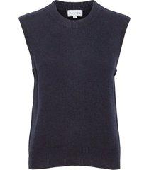 o-neck vest vests knitted vests blauw davida cashmere