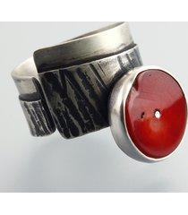 pierścionek z koralem