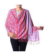 wool shawl, 'rainbow confetti' (india)