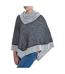 100% alpaca poncho, 'honeycomb matrix' (peru)