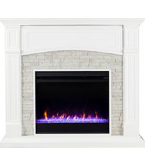 southern enterprises chartier color changing electric fireplace with media shelf