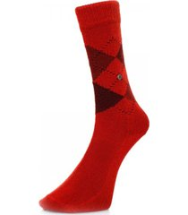 burlington preston argyle red socks 24284 8007