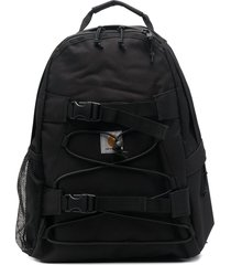 carhartt wip logo-patch zip-up backpack - black