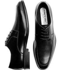 kenneth cole techni-cole elliot black apron toe dress shoes