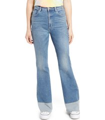 lee high waist flare jeans, size 32 in canyon fade at nordstrom