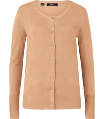 cardigan in filato fine con bottoni (marrone) - bpc bonprix collection