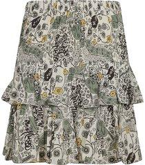isabel marant ruffled detail printed skirt