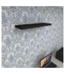 prateleira para escritório mdf suporte inivisivel cor preto 60(c)x20(p)cm modelo pratesp28