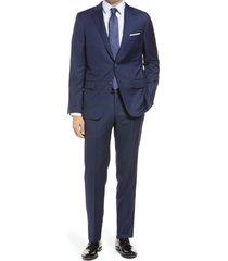men's big & tall hickey freeman beacon b series classic fit wool suit
