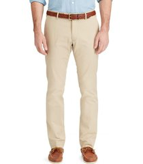 pantalon stretch slim fit cotton chino beige polo ralph lauren