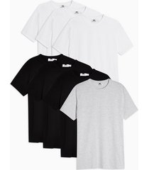 mens 7 assorted colour t-shirt multipack*