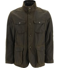 barbour ogston jacket in coated cotton