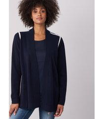 modieus cashmere vest met zakken en contrasterende naden