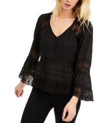 nanette lepore crochet-lace cotton top